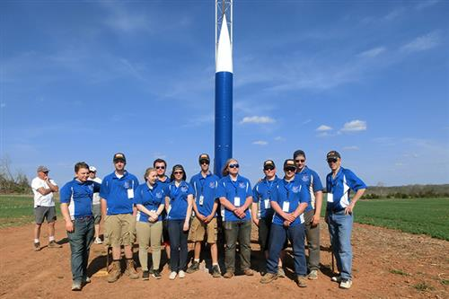 rocketry team photo