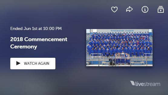 LiveStream logo with graduation class picture