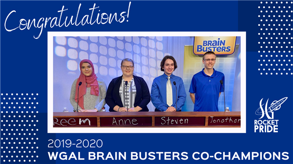 SG Brain Busters Team Co-Champions with picture of team