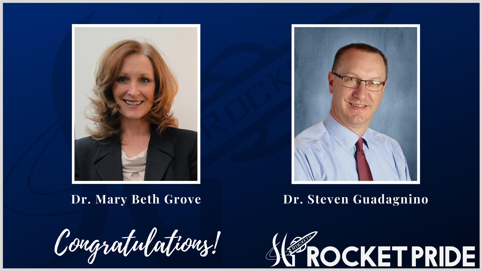 Congratulations, Dr. Mary Beth Grove and Dr. Steven Guadagnino!