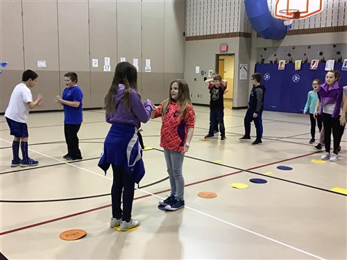 Students participating in Jump Rope for Heart and Hoops for Heart