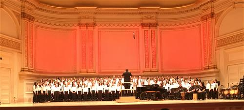 students perform at carnegie hall
