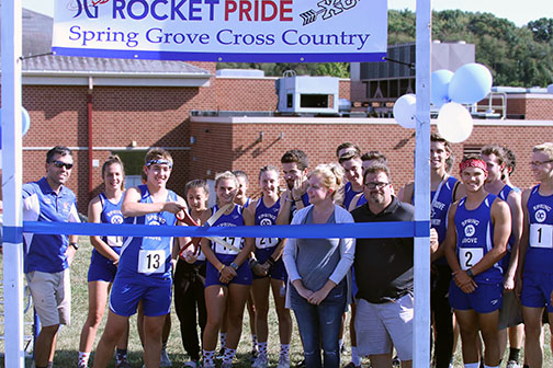 Ryan Coleman Opened the Newly Enhanced Cross Country Course With Ribbon Cutting Ceremony.