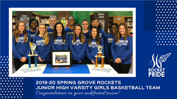 2019-20 Spring Grove Junior High Varsity Girls Basketball Team Goes Undefeated