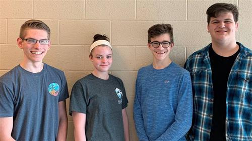 Group Picture of Anthony Wood, Bailey Phillips, Peyton Rohrbaugh, and Brendan Livelsberger