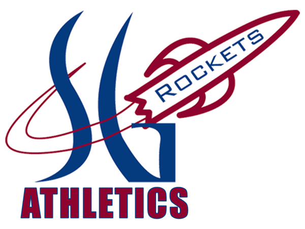 spring grove logo with rocket and the word athletics at the bottom