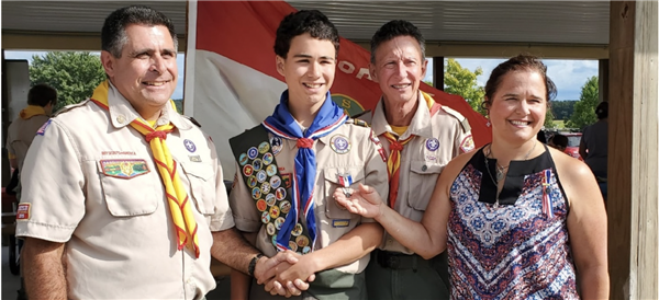 Wyatt Stambaugh Receives Eagle Scout Award