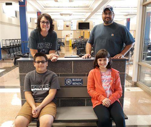 The Lambert Family Assists in the Donation of Buddy Benches to Three of Spring Grove Schools.