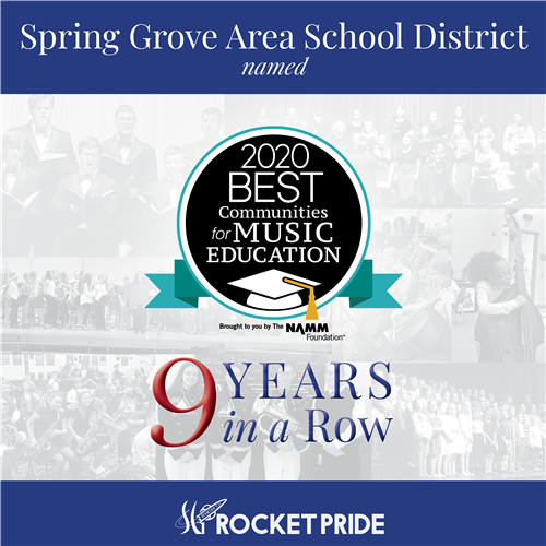 Spring Grove Area School District named 2020 Best Communities for Music Education 9 years in a row