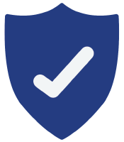 blude badge with white check mark