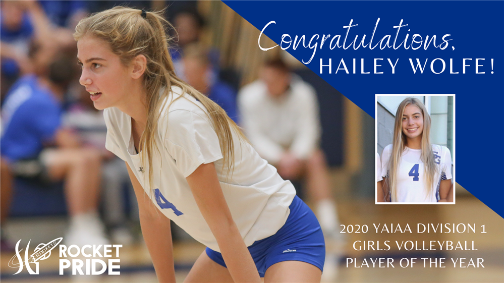 SGAHS Junior, Hailey Wolfe, Receives Player of the Year Award