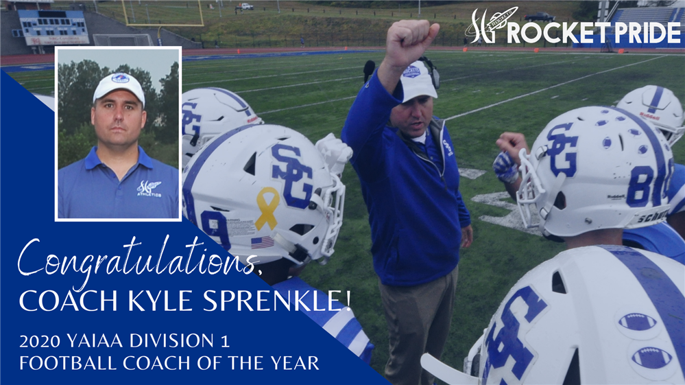 Top Honor Awarded to Head Football Coach, Kyle Sprenkle