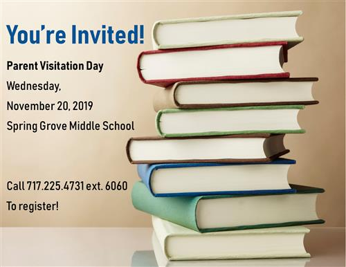 Parent Visitation Day is November 20, 2019.  Shadow your child for the day!