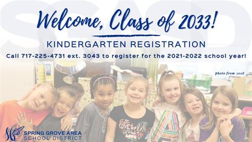 Kindergarten Registration is Now Open